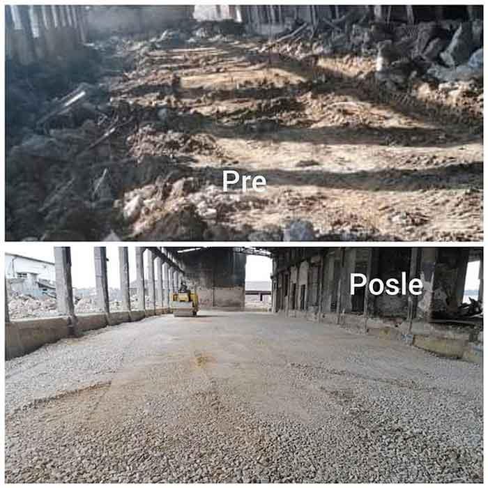 iskopavanje temelja hala magacina
