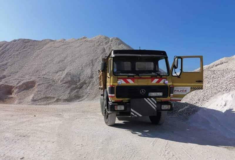 prevoz sljunka peska kamena